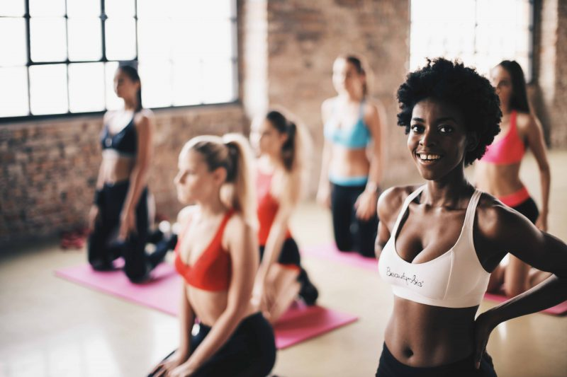 Image of ladies in a gym class