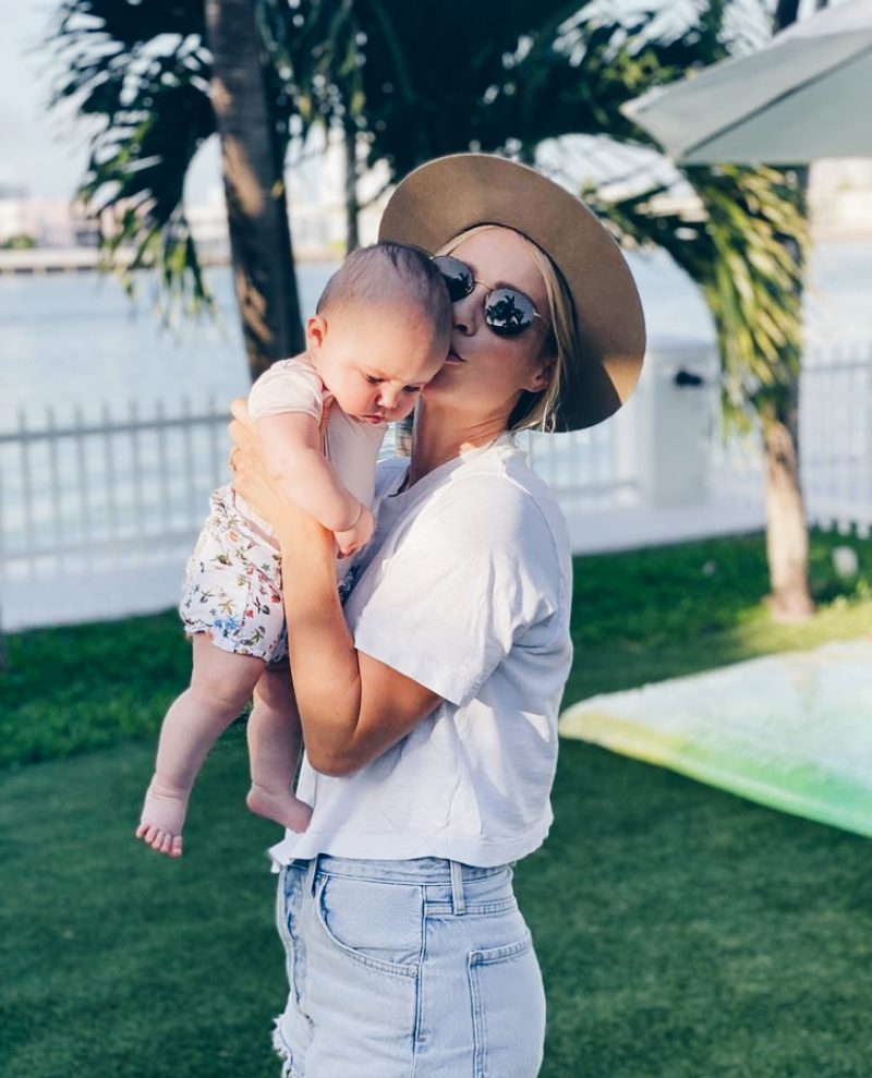 Claire Holt breastfeeding
